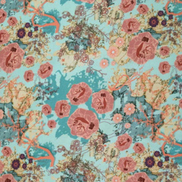 0,5m Chinese Roses-Jersey by bienvenido colorado mint